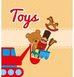 children toys vector image