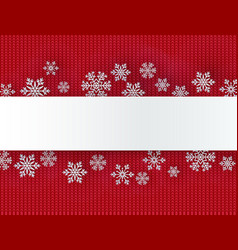 christmas background with decorative snowflake vector image