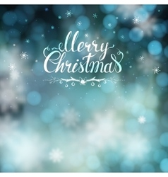 Christmas greeting card with blur background and vector image