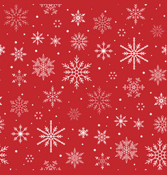 christmas pattern snowflake background seamless vector image