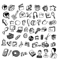comic icons vector image