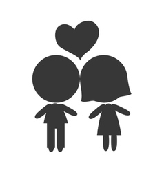 Couple boyfriends silhouette vector