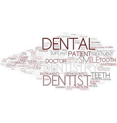 Dentistry word cloud concept vector