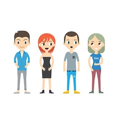 Diverse People Set Men and women Different poses vector image