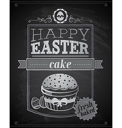 easter cake textured vector image