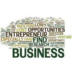 Entrepreneur opportunities text background word vector