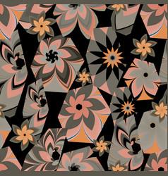 Floral hexagon vector
