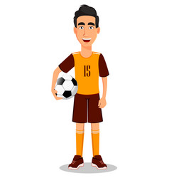 football player in yellow and brown uniform vector image