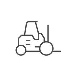 forklift or loader line outline icon vector image