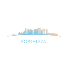 Fortaleza skyline silhouette design colorful vector