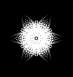 grunge snowflake isolated vector image