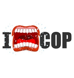 I hate cop shout symbol of hatred and antipathy vector