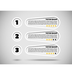 Infographics with menu items and rating vector image