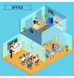 Isometric Office Interior Corporate Business vector image