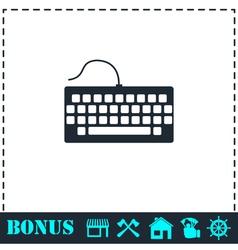 Keyboard icon flat vector