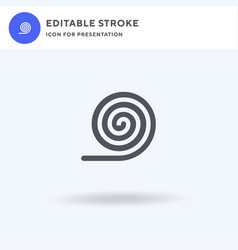 Liquorice icon filled flat sign solid vector