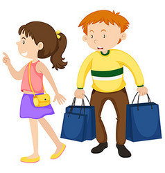 Man and woman shopping vector image