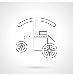 Mobile kiosk flat thin line icon vector