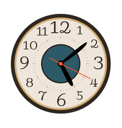 Modern wall clock isolated on white vector