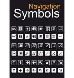 Navigation symbols vector