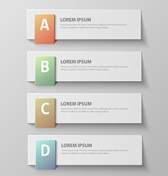 paper infographic41 vector image