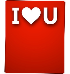 Paper love card vector