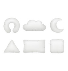 pillows different shapes night symbols for relax vector image