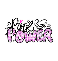 pink power colorful graffiti vector image