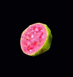 polygonal guava vector image