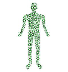 recycle arrows human figure vector image