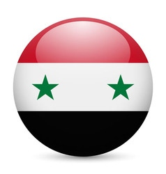 Round glossy icon of syria vector