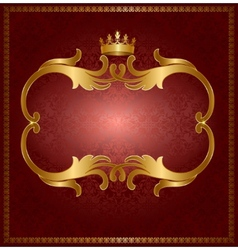 Royal gold frame vector image