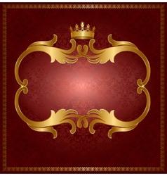 Royal gold frame vector