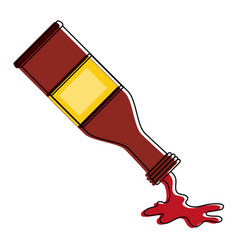 Sauces bottle isolated vector