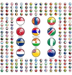 Set flags world sovereign states vector