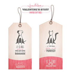 Set of Valentines day gift tags vector