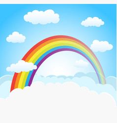 sky background with rainbow vector image