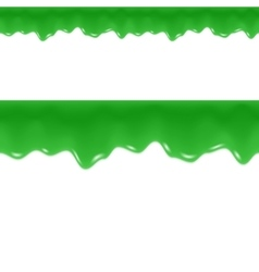 Slime Drips Toxic Flowing Liquid Seamless Border vector
