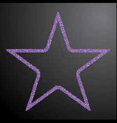 The star banner of purple sequins background vector