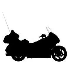 touring motorbike silhouette vector image