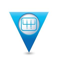 Transmission1 BLUE triangular map pointer vector