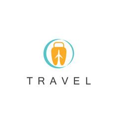 travel bag logo vector image
