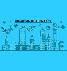 united states oklahoma city winter holidays vector image