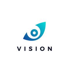 Vision eye logo icon vector