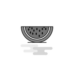 water melon web icon flat line filled gray icon vector image