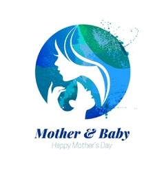 Watercolor effect of mother vector