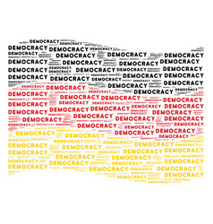 Waving german flag collage of democracy text items vector