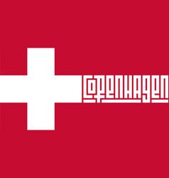 welcome to denmark copenhagen stylized lettering vector image