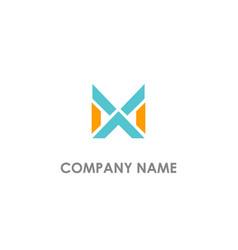 x initial cross logo vector image