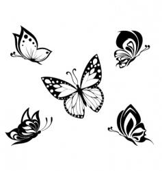 butterflies tattoo vector image vector image